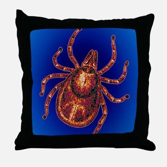 Lyme disease tick Throw Pillow