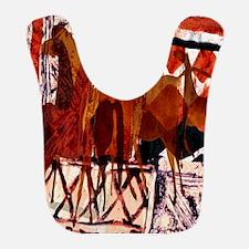 Four Horses Collage Bib