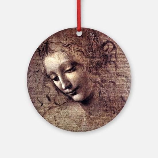 La Scapigliata - da Vinci Round Ornament