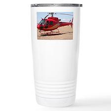 Helicopter, red Travel Mug