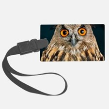 Long-eared owl Luggage Tag