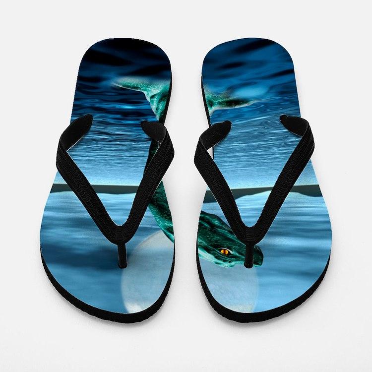 Loch Ness Monster Flip Flops