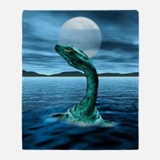 Loch Ness Monster Throw Blanket