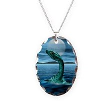 Loch Ness Monster Necklace Oval Charm