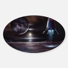 Manned mission to Charon, artwork Sticker (Oval)