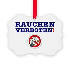 NO SMOKING - GERMAN Ornament