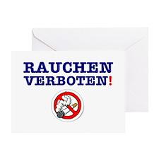NO SMOKING - GERMAN Greeting Card
