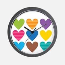 Barack Hearts Wall Clock