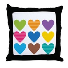 Barack Hearts Throw Pillow
