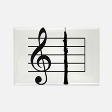 Oboe Silhouette Magnet