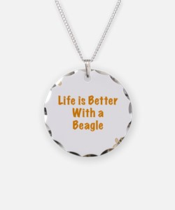 Life is better with a Beagle Necklace