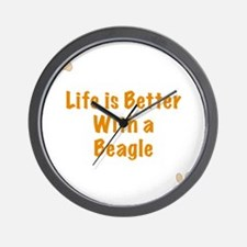 Life is better with a Beagle Wall Clock