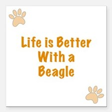 "Life is better with a Be Square Car Magnet 3"" x 3"""