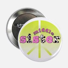 "middle sister peace decor 2.25"" Button"