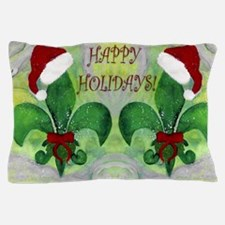 Santa Christmas Fleur de lis Pillow Case
