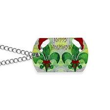 Santa Christmas Fleur de lis Dog Tags