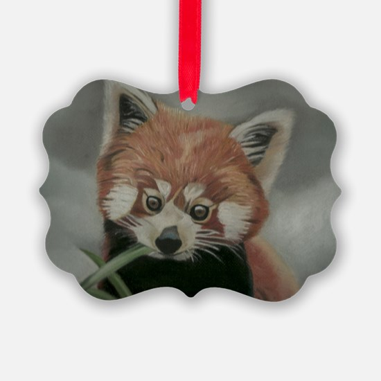 Red Panda - Painting Done in Past Ornament