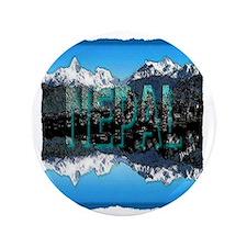 """nepal mount everest art illustration 3.5"""" Button"""