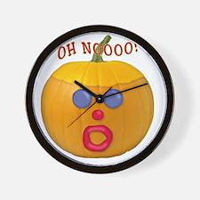 Oh No! Mr.Pumpkin! Wall Clock