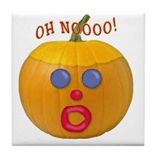 Oh No! Mr.Pumpkin! Tile Coaster