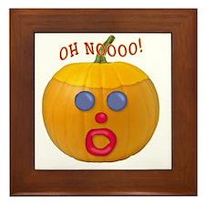 Oh No! Mr.Pumpkin! Framed Tile