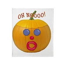 Oh No! Mr.Pumpkin! Throw Blanket