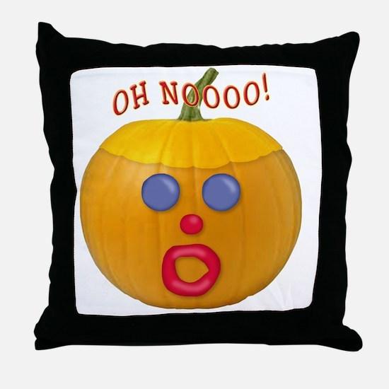 Oh No! Mr.Pumpkin! Throw Pillow