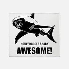 Honey Badger Shark Throw Blanket