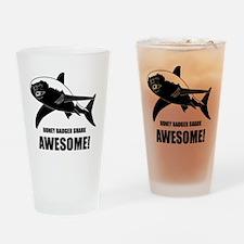 Honey Badger Shark Drinking Glass