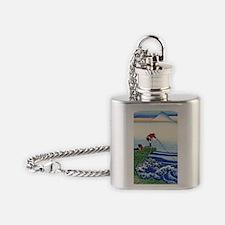 Hokusai View Mt. Fuji Kajikazawa Flask Necklace