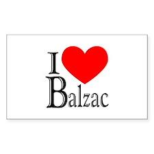 I Love Balzac Rectangle Decal