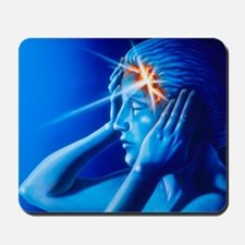 Artwork of woman with head split showing Mousepad