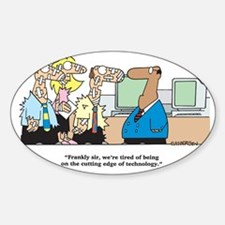 Cutting Edge of Technology Sticker (Oval)
