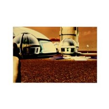 Mars base Rectangle Magnet