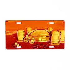 Mars base Aluminum License Plate