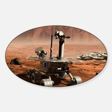 Mars Opportunity rover Sticker (Oval)