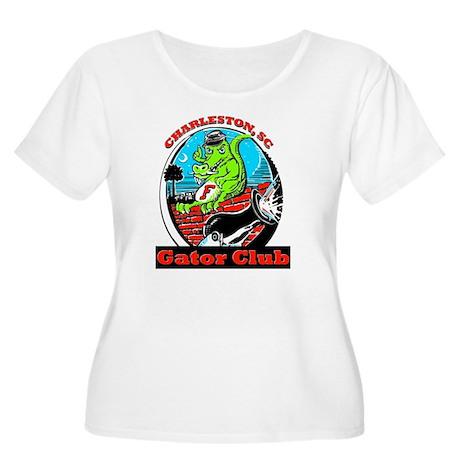 gator-10X10 Women's Plus Size Scoop Neck T-Shirt
