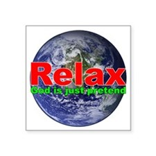 "Relax Earth Square Sticker 3"" x 3"""