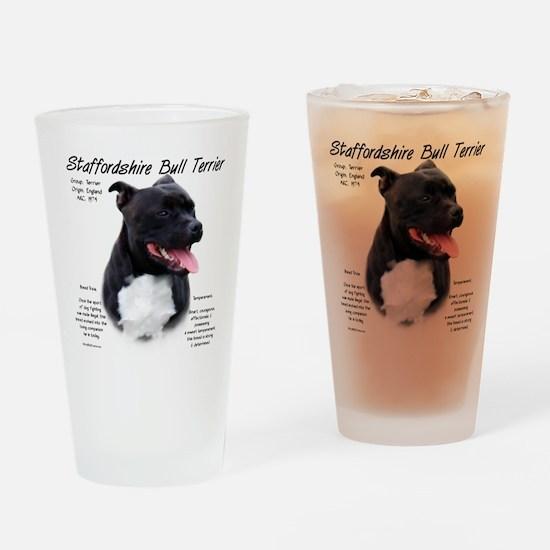 Staffordshire Bull Terrier Drinking Glass