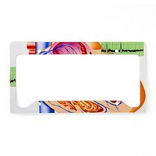 Atrial fibrillation, artwork License Plate Holder