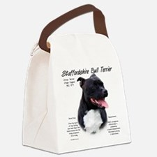 Staffordshire Bull Terrier Canvas Lunch Bag