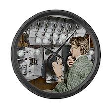 Baird demonstrating his televisio Large Wall Clock