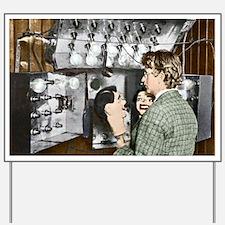 Baird demonstrating his television, 1920 Yard Sign