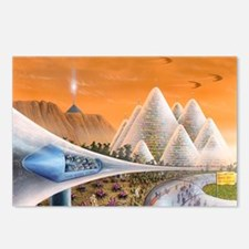 Martian colony art exhibi Postcards (Package of 8)