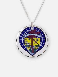 uss oriskany patch transpare Necklace