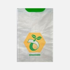Biodegradable plastic bags Rectangle Magnet