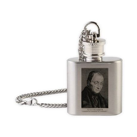 Auguste Comte, French philosopher Flask Necklace