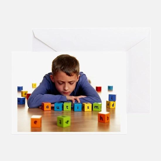Autistic boy Greeting Card