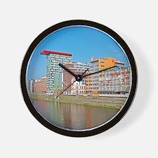 Media Harbour, Dusseldorf, Germany Wall Clock