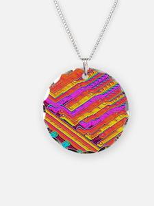 Microchip surface, SEM Necklace